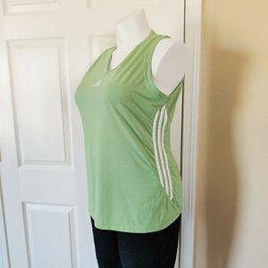 3/$25 Adidas V-neck green knit tank top sz XL